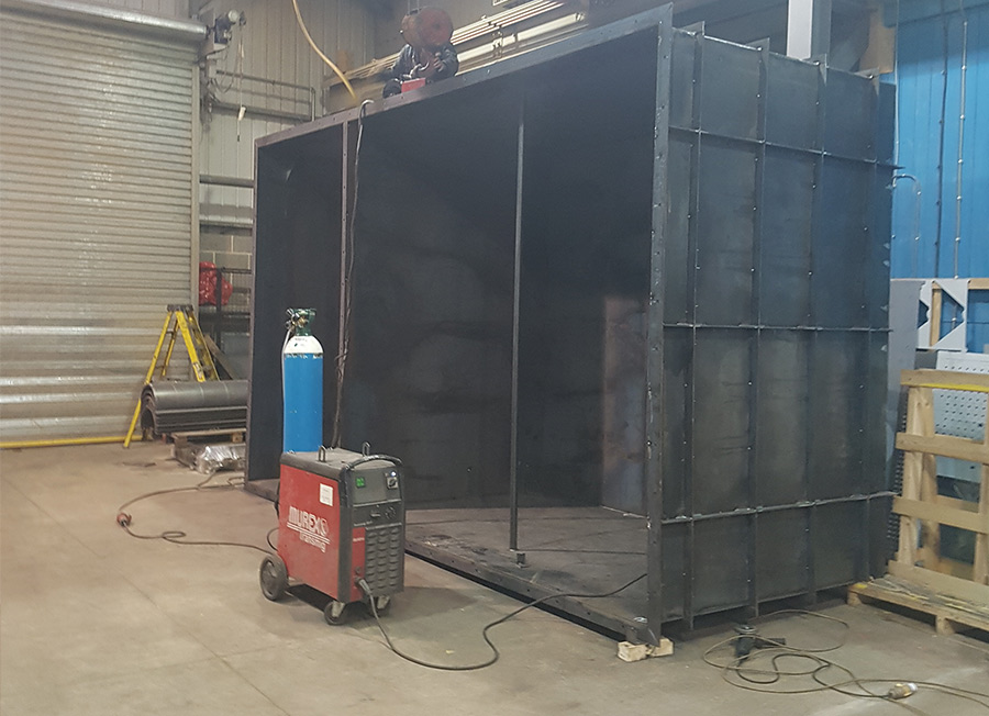 fabricated steel container